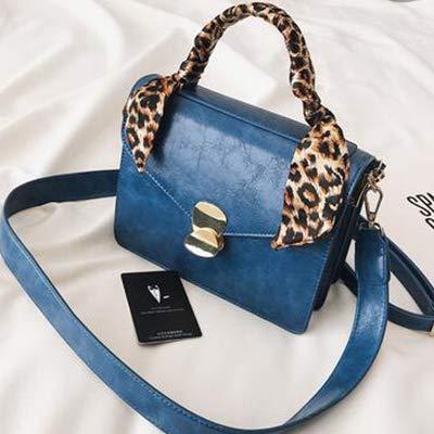 Shoulder Bags casual women flap handbags purse leather Leopard scarf shoulder bag ladies party purse clutches women crossbody bag ()