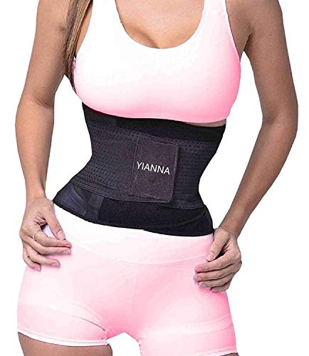 YIANNA Waist Trimmer Belt Weight Loss Wrap Stomach Fat Burner Low Waist and Back Support Adjustable Best Abdominal Trainer