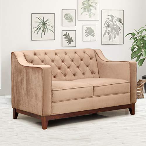 Evok Tesoro Fabric Sofa 2 Seater   Brown