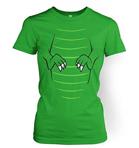 T-Rex Costume Womens T-shirt - Irish Green X Large (UK Size 14)