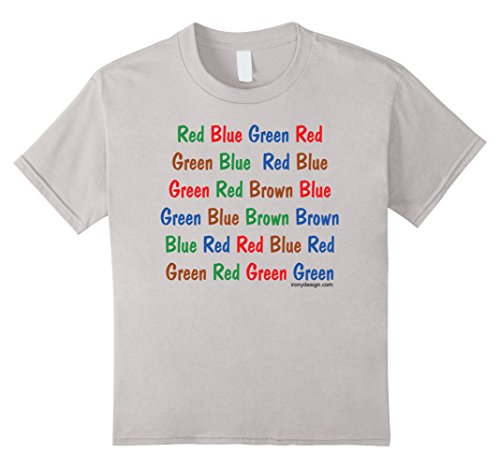 unisex-child The Stroop Test T-Shirt 6 Silver