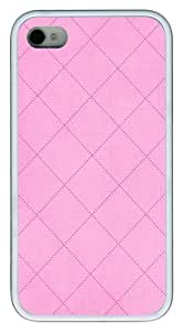 iPhone 4s Cases, iPhone 4s Case - Pink Plaid Custom Design TPU Case Cover for iPhone 4/4s White by icecream design