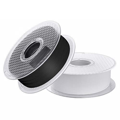 Sovol PLA 3D Printer Filament 2 kg(4.4 LBS) Spool Printing Materials Wiring Tightness Dimensional Accuracy +/- 0.02 mm 1.75 mm Black+White