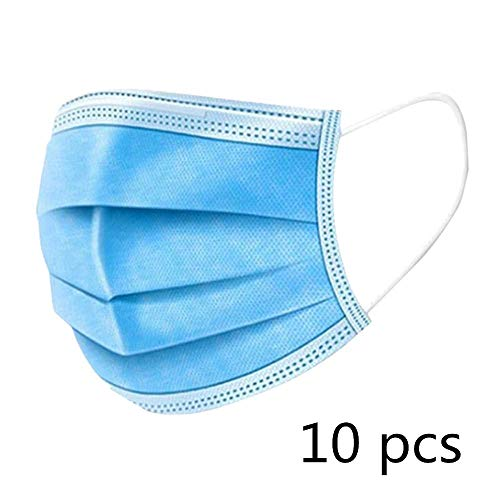 KETONG 50 pieces Disposable Profession Protective filter 3-Ply Non Woven Facial Cover Dust filter Safety Breath filter…