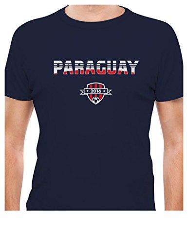 TeeStars - Paraguay National Soccer Team 2016 Paraguayan Fans T-Shirt XX-Large Navy ()