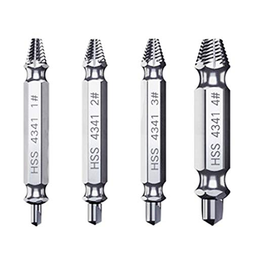 Broken Screw Extractor and Remove Set of 4 Pcs Easily Remove Stripped or Damaged Screws