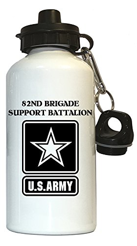 82nd Brigade Support Battalion - US Army Water Bottle White, 1027