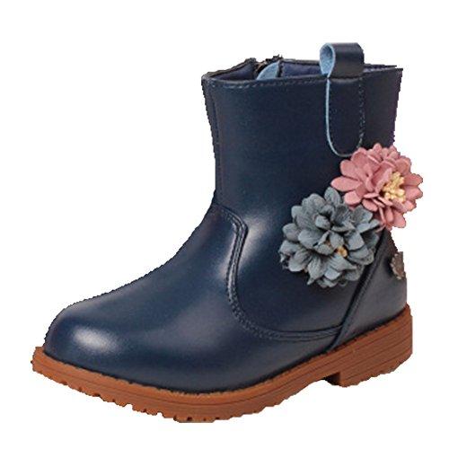 Ohmais Kinder Mädchen flach Freizeit Sandalen Sandaletten Kleinkinder Mädchen Kinderschuhe Stiefeletten Blau