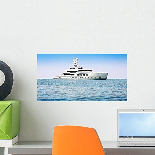 Wallmonkeys Luxury Boat Sea Wall Mural Peel and Stick Graphic (18 in W x 10 in H) (Celebration Cruise Halloween)