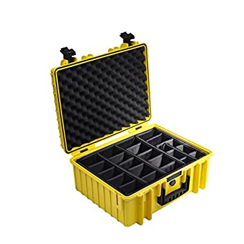 Image of B&W International 6000/Y/RPD 6000 Outdoor Case with RPD Insert Durable Type, Yellow Camcorder Cases