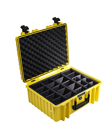 B&W International 6000/Y/RPD 6000 Outdoor Case with RPD Insert Durable Type, Yellow