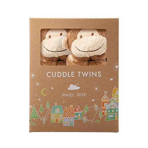 Angel Baby Toy - Angel Dear Cuddle Twin , Brown Monkey