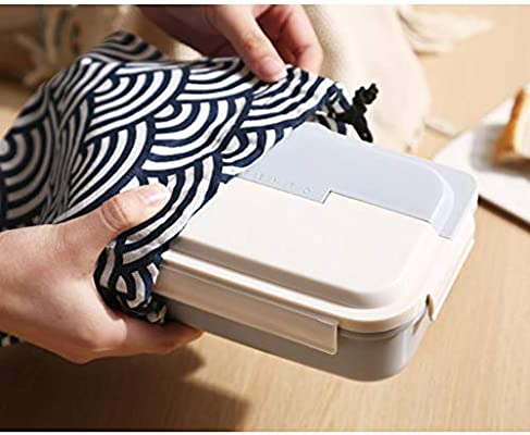 Kids Lunch Boxes Lunch Box Office Worker Lunch Box Student Lunch Box Canteen Lunch Box Simple Single Layer Food Box 3 Color Bento Boxes (Color : Blue, Size : 71119.7cm)