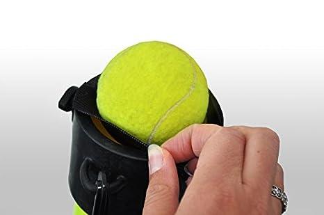 TUBO RECOGE PELOTAS TENIS - Amarillo- Contiene hasta 15 pelotas: Amazon.es: Deportes y aire libre