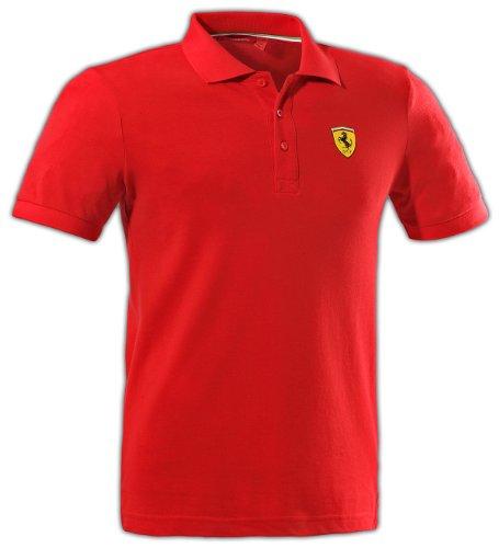 (Ferrari Men's Classic Polo, Red, Small)