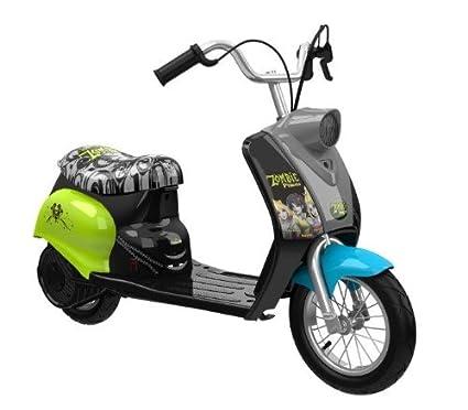 Amazon.com: Dynacraft Zombie Scooter de ciudad, negro/verde ...