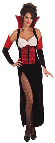 [Forum Novelties Women's Countess Crypticia Temptress Costume, Black/Red, One Size] (Dracula Costumes For Women)
