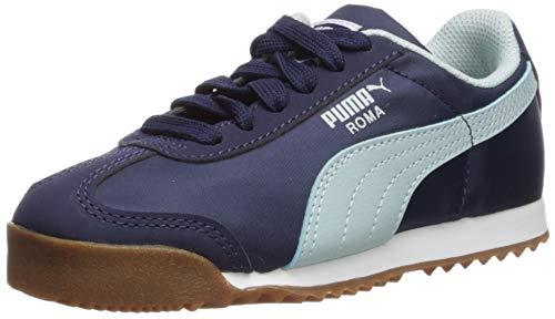 PUMA Boys' Roma Basic Sneaker Peacoat-Light Sky White, 11 M US Little Kid (Puma Roma Basic Kids)