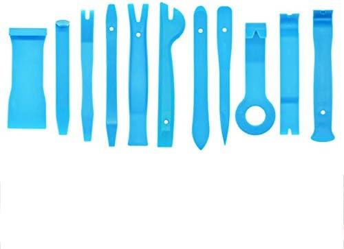 11個入りプラスチック製こじりツールトリムダッシュボードドアクリップパネル取り外しインストーラーのオープニング修復ツール(PC電話解体セット-水色)