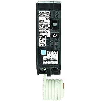 Murray MP120DF 20-Amp AFCI/GFCI Dual Function Circuit Breaker, Plug ...