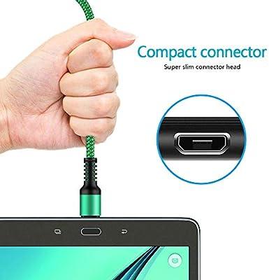 NINIBER Cable de carga micro USB, largo cargador de teléfono ...