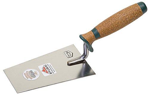 Stubai 429214 Berner Putzkelle rostfrei met.rot.Griff 140 mm
