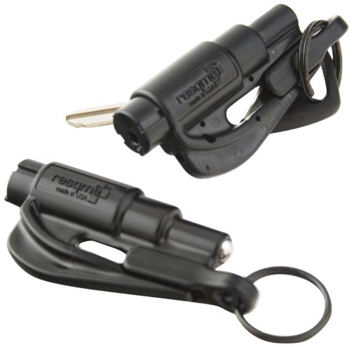 Original Keys - resqme The Original Keychain Car Escape Tool, Made in USA (Black) - Pack of 2