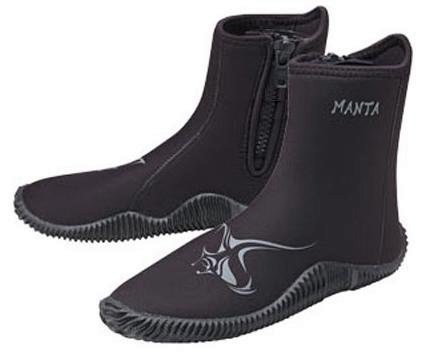 New AERIS 5.0mm Heavy Duty Zipper Manta Boots (Size 5) for Scuba Diving & Watersports with a FREE Drawstring Mesh Collection Bag.... a $12.95 Value - Aeris Boot