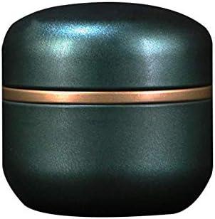 Caja de metal pequeña redonda de chapa blanca con tapa, caja de regalo para café, azúcar, chocolate, dulces, té, joyas, almacenamiento verde: Amazon.es: Hogar