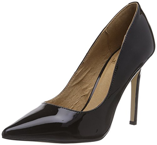 La Strada Schwarzer Lack-Leder-Look Pump - zapatos de tacón cerrados de material sintético mujer negro - Schwarz (1301 - patent black)