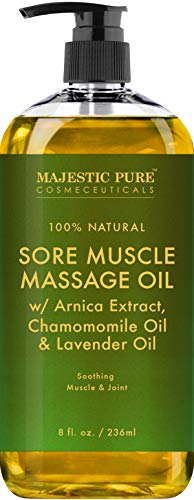 Legs Birthday Bath (Arnica Sore Muscle Massage Oil for Joints and Muscles by Majestic Pure - Soothe Sore, Tired Muscles, Nourishing and Hydrating, 8 fl. oz.)