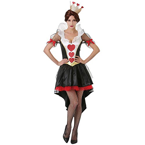 Boo Inc. Queen of Hearts Halloween Costume for Women | Alice in Wonderland Dress Up, M ()