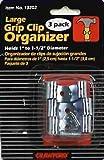 Lehigh 13202 Grip Clip Organizer, Silver, Large