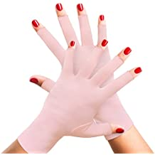 Womens Arthritis Compression Gloves - Therapeutic Hand & Finger Support for Arthritic Pain Symptoms, Raynauds Disease, Joint Pain, Rheumatoid & Osteoarthritis. 1 PAIR Ladies Pink Fingerless Glove (S)