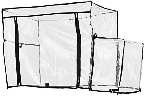 Creative Outdoor Distributor 999592 Push Pull Folding Wagon Rain Cover, Clear
