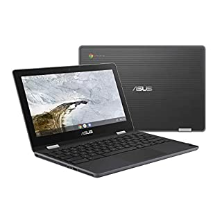 "ASUS Chromebook Flip C214 2-In-1 Laptop- 11.6"" Ruggedized and Spill Resistant 360 Degree Touchscreen, Intel Celeron N4000, 4GB LPDDR4 RAM, 32GB Storage, HD 5M Pixel Camera, Chrome OS- C214MA-YS02T (Renewed)"