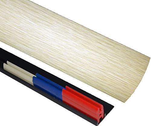 Cream Washed Oak 50mm x 90cm Multi Floor Multi Purpose Threshold Strip Adhesive Clip System