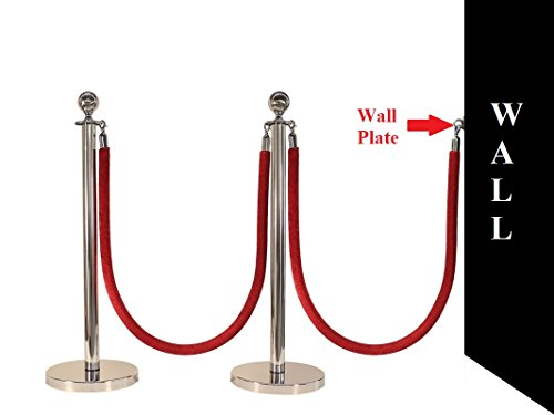 5 PCS ROPE STANCHION SET, CROWN TOP AND MIRROR POLISH S.S. 12