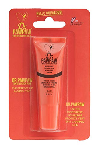 Dr. PAWPAW Tinted Peach Pink Balm Mini, Multi-Purpose Balm, For Lips, Cheeks & Other Cosmetic Finishing, (Best Lucas Lip Balms)