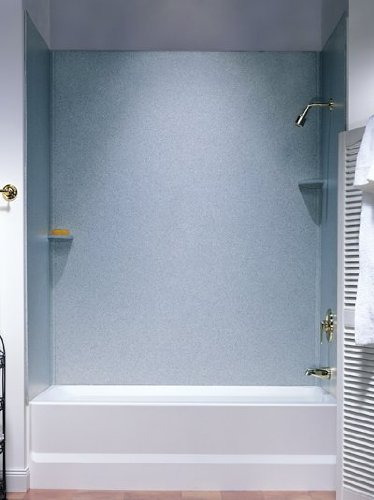 (Swanstone SS-72-3.010 Solid Surface Bathtub Wall Panel System, White )