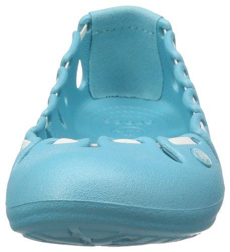 Crocs Springi-Flat, ballerines femme Bleu (Aqua/White)