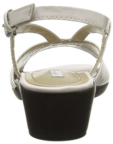 Geox D New Coral A - Sandalias de vestir Mujer Blanco - Blanc (C1002)
