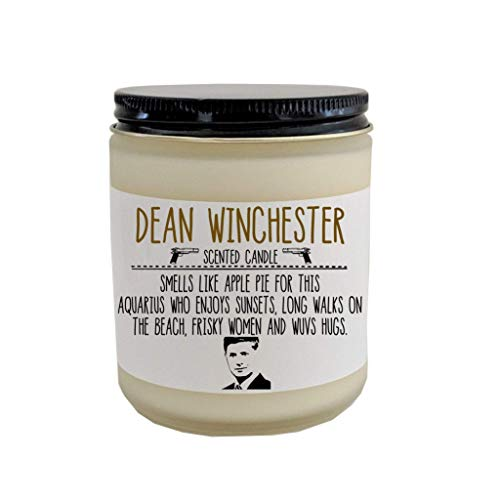 Supernatural Dean Winchester Scented Candle Castiel Supernatural Gift Winchester Brothers