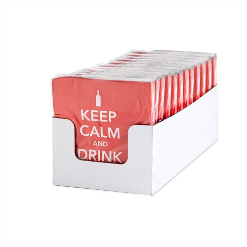 Napkins Party Supplies Keep Calm Drink On Dinner Party Napkins - Set Of 12 (Sold by Case, Pack of 12)