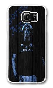 Samsung Galaxy S6 Edge Case, Hard Crystal Clear Transparent Plastic Bumper Case for Samsung Galaxy S6 Edge with Back Photo Wood Forza Azzurri