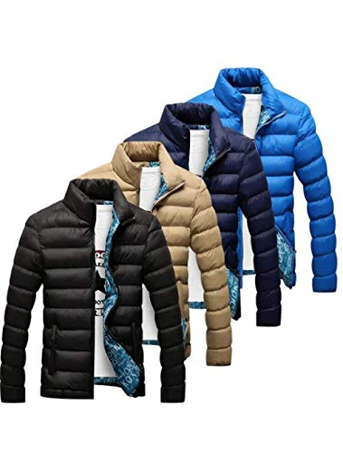 Zipper Clothing dunkelblau with Collar Sleeve 1 Stand Comfortable Jacket Jacket Jacket HX Long Men's Jacket fashion Quilted Sweat Sizes Down Outerwear Men's fW6qZ1H