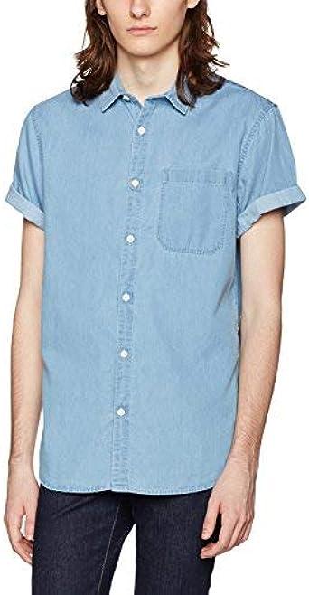 New Look 5124973 Camisa Vaquera, Azul (Azul Medio), XS para ...