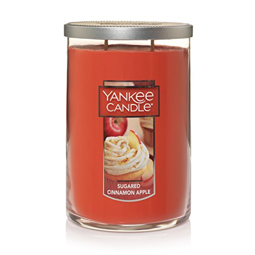 (Yankee Candle Large 2-Wick Tumbler Scented Candle, Sugared Cinnamon Apple)