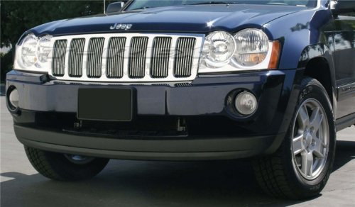 TRex Grilles 30480 Vertical Aluminum Polished Finish Billet Grille Bolt-on for Jeep Grand Cherokee
