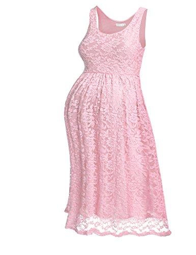 HOTOUCH - Falda - Sin mangas - para mujer Typ2-Pastellrosa